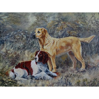 'The Dogs' English School Oil Painting, Signed & Dated For Sale