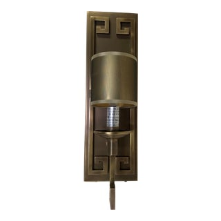 Greek Key Wall Sconce by Currey & Company For Sale