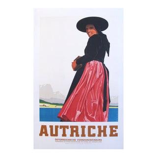 1930s Austrian Art Deco Travel Poster, Autriche For Sale