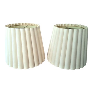 Vintage Fabric Lamp Shades - a Pair For Sale
