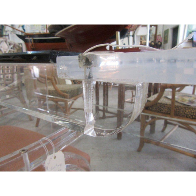 Lucite & Glass Lucite Waterfall Desk - Image 7 of 8