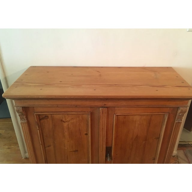 Antique pine sideboard from France, circa late 1800s. Original hardware and  1 shelf inside - 19th C Antique French Pine Cabinet Chairish