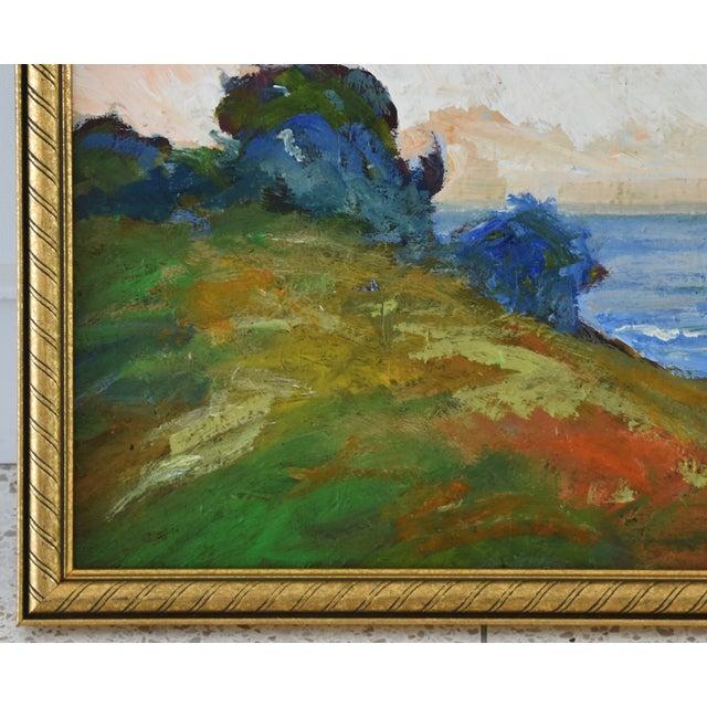 Lights Juan Guzman Plein Air California Seascape Landscape Painting For Sale - Image 7 of 10