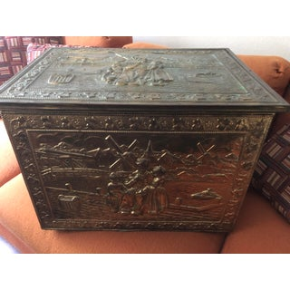 Antique Copper and Wood Handmade Imprinted Chest Preview