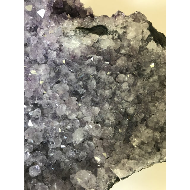 Boho Chic Amethyst Crystal Geode For Sale - Image 3 of 6