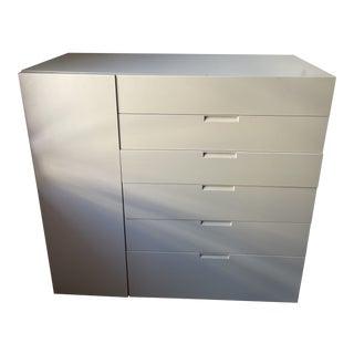 Modern Italian Light Beige Matt Lacquer Dresser For Sale