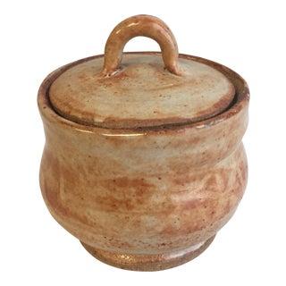 1980s Primitive Handmade Ceramic Jar For Sale