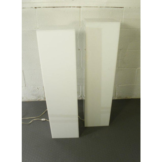 Vintage Mid Century Modern lit Art Pedestals ---price is for the pair Great way to show off your Sculpture or Ceramics....