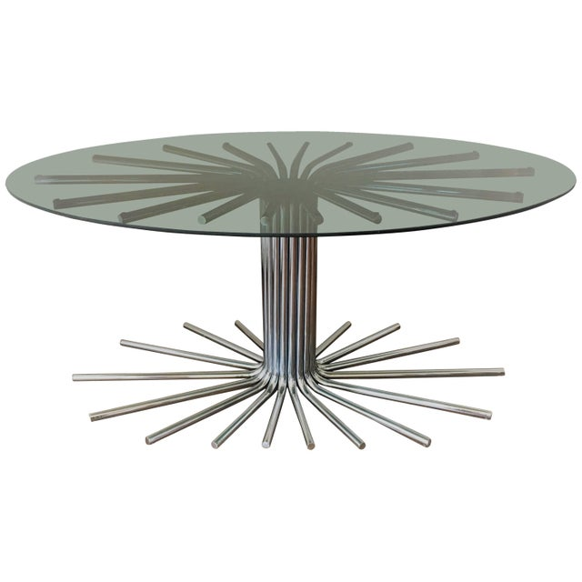 1950s Italian Fume' Glass Top Dining Table in the Manner Gastone Rinaldi For Sale - Image 10 of 10