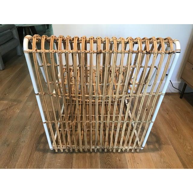 Metal Rattan and Metal Chair For Sale - Image 7 of 8