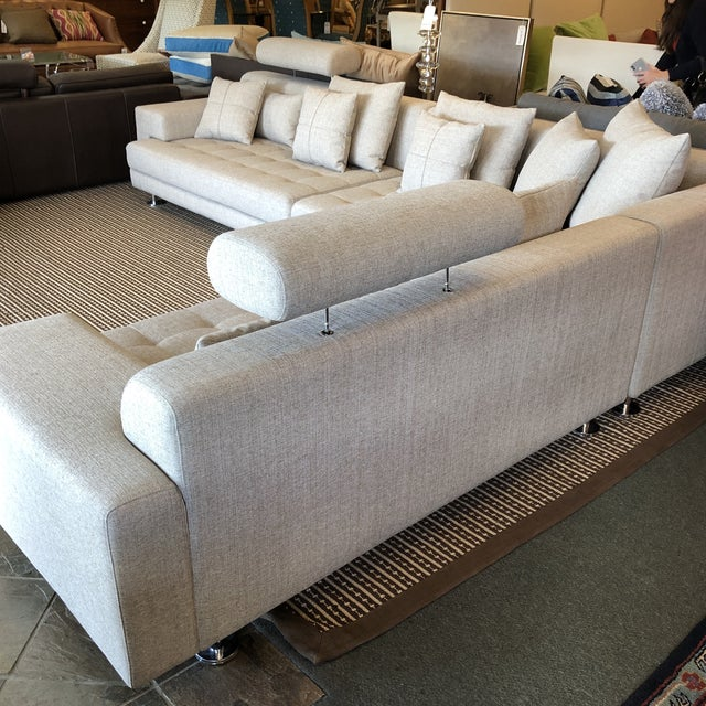 Cepella Left Seated Sectional by Scandinavian Designs For Sale - Image 4 of 11