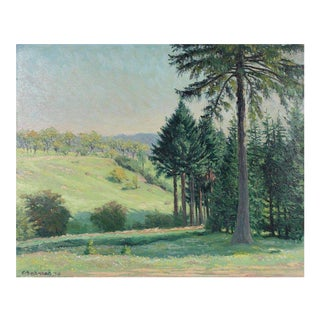 """Entrance of Eulergraben"" Early 20th Century European Landscape in Oil For Sale"