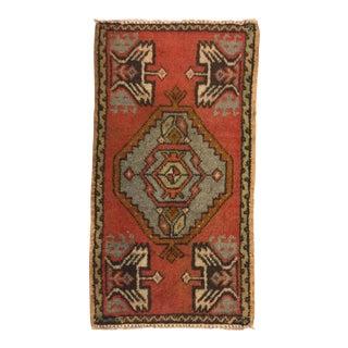 Vintage Turkish Faded Rug - 1′7″ × 2′11″