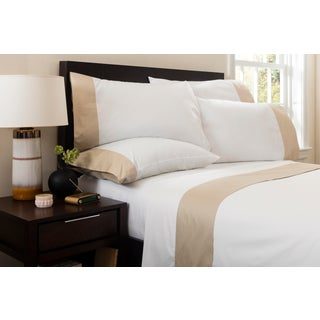 Monte Carlo Banded Flat Sheet Queen - Pumice Preview