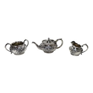 1930s Antique Reed & Barton Sterling Silver Tea Set - 3 Pieces