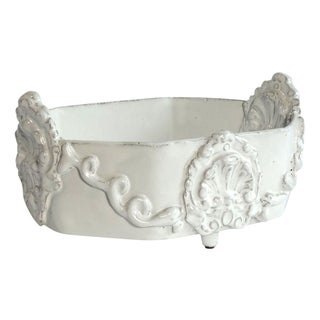 Ornate French White Ceramic Bowl