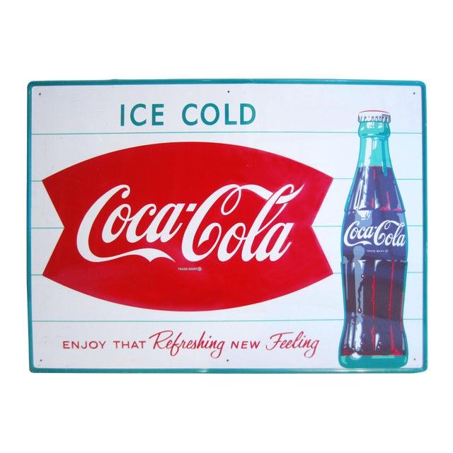 Vintage Coca-Cola Advertising Sign - Image 1 of 8