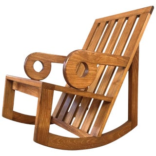 Kipp Stewart for Summit Teak Ap288 Aperture Rocker, 1979 For Sale