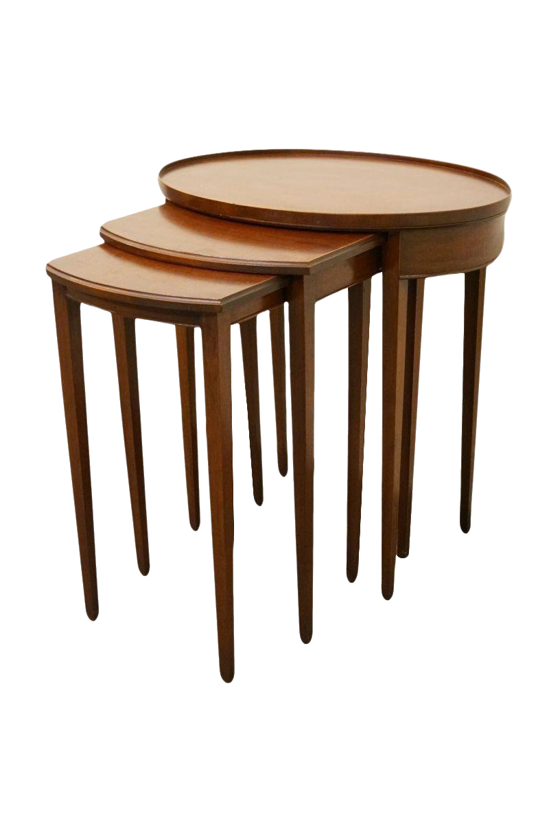 nesting furniture. Imperial Furniture Grand Rapids Genuine Solid Mahogany Nesting Tables - Set  Of 3 Nesting Furniture