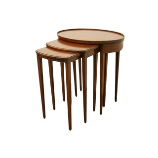 Imperial Furniture Grand Rapids Genuine Solid Mahogany Nesting Tables - Set of 3 For Sale
