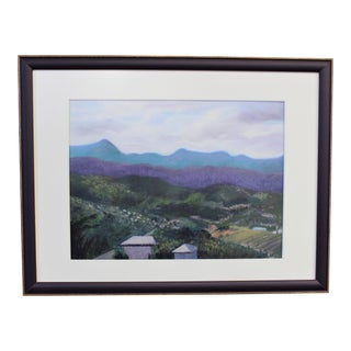 Pastel Drawing by Lily Kwan Named Caribbean Hillside For Sale