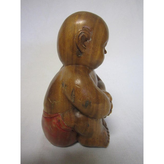 Chinese Wood Figure - Image 3 of 6