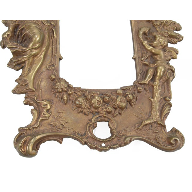 1970s Bronze Frames With Angel Motifs - Pair For Sale In Miami - Image 6 of 8