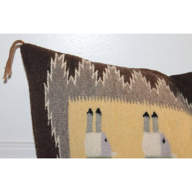 Yea Navajo Indian Weaving Pillow For Sale - Image 4 of 7