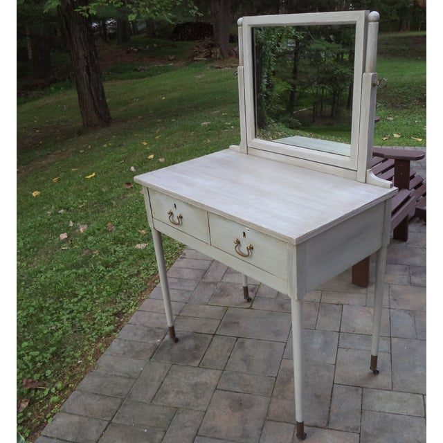 Antique Painted Vanity - Image 2 of 8