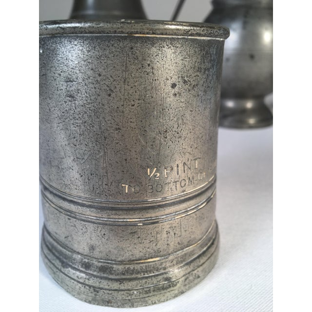 Georgian Collection of 4 Antique Pewter Articles For Sale - Image 3 of 10