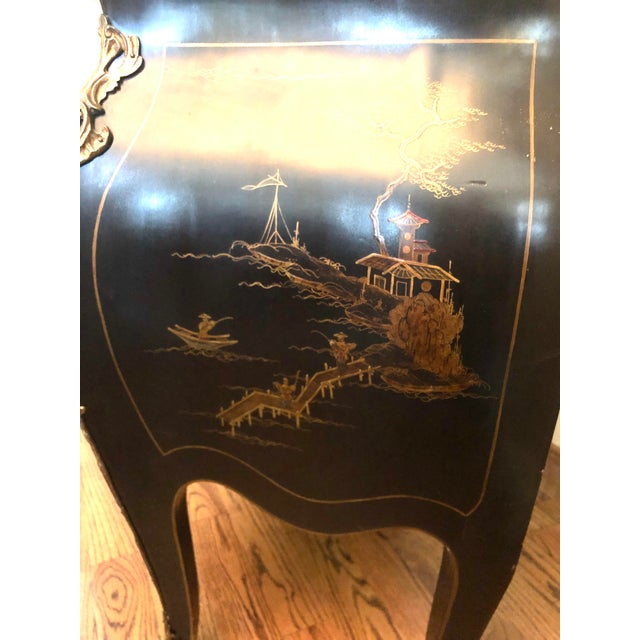 Metal Early 20th C. Chinoisere Marbletop Louis XV Commode For Sale - Image 7 of 11