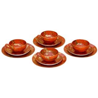 Japanese Tea & Dessert Set, 12 Pieces - Service for 4 For Sale