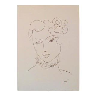 Matisse Black and White Original 1984 Exhibition Poster For Sale