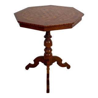 Octagonal Italian Game Table, Italy Circa 19th Century For Sale