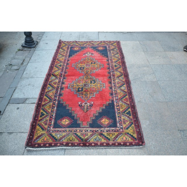 Turkish Handmade Anatolian Carpet - 4′ × 7′1″ - Image 2 of 6