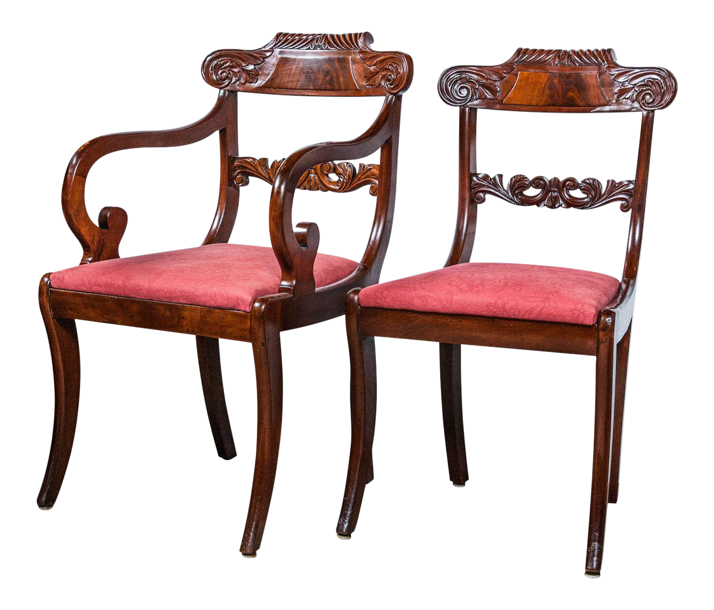 19th C. English Regency Dining Chairs   Set Of 8 For Sale