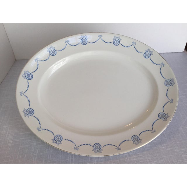 Blue & White Oval Imperial Porcelain Platter For Sale - Image 13 of 13