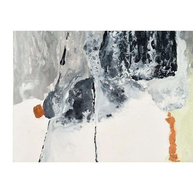 """2010s Contemporary Abstract Painting """"Copper Field"""" by Ashley Mayel For Sale - Image 5 of 9"""