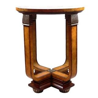 Pasartgad N Y Art Deco Rosewood and Ash Burl Veneers Table For Sale