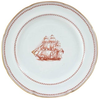 """Dinner Plate, Spode England """"Tradewinds"""", Chinese Export Style For Sale"""