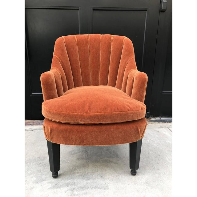 Art Deco French Art Deco Side Chair in Mohair For Sale - Image 3 of 5