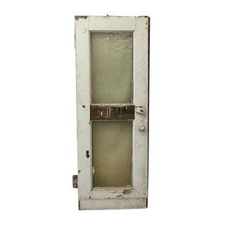 Old Steel Industrial Door With Chicken Wire Glass