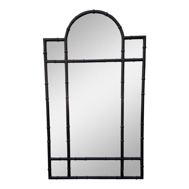 Huge Paul Ferrante Black Iron Aviara Pier Mirror For Sale