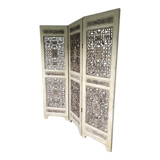 Trifold Fretwork Screen/Room Divider For Sale