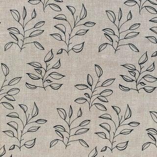 Greige Mya Fabric, 3 Yards, Dublin on Oatmeal in Linen For Sale