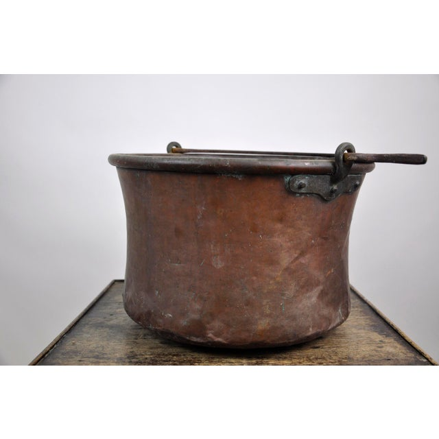 1960s Antique French Copper Cauldron Kettle For Sale - Image 5 of 13
