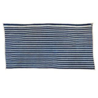 "African Indigo Blue Striped Rug Runner - 2'7"" X 5'"