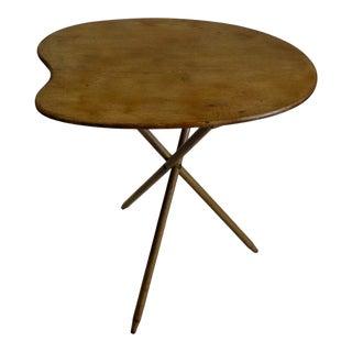 Vintage Danish Modern Artist Palette Tripod Side Table For Sale