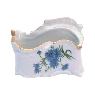 Vintage Signed Porcelain Cornflower Vase