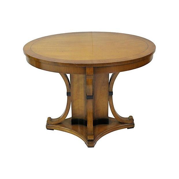 Vintage Cherry Oval Center Table - Image 1 of 4